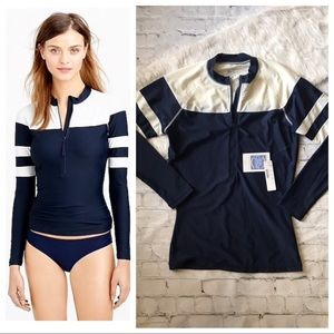 J. Crew Varsity Stripe Rash Guard